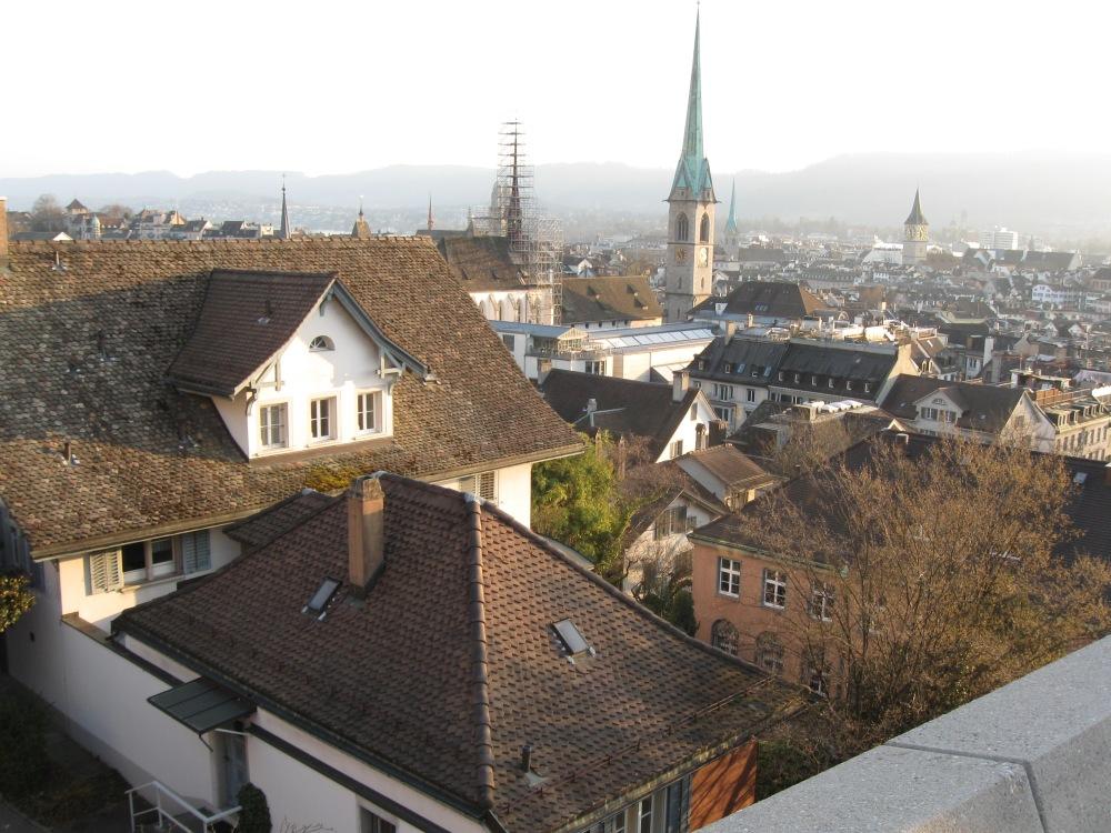 The view from ETH Polyterasse (Zurich)