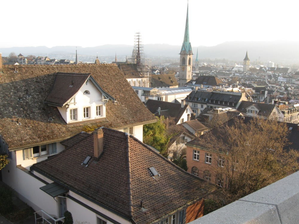 The view from ETH Polyterasse (Zurich)