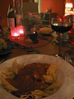 Dinner on my first night in Zurich.