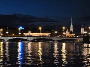 Zurich at night.